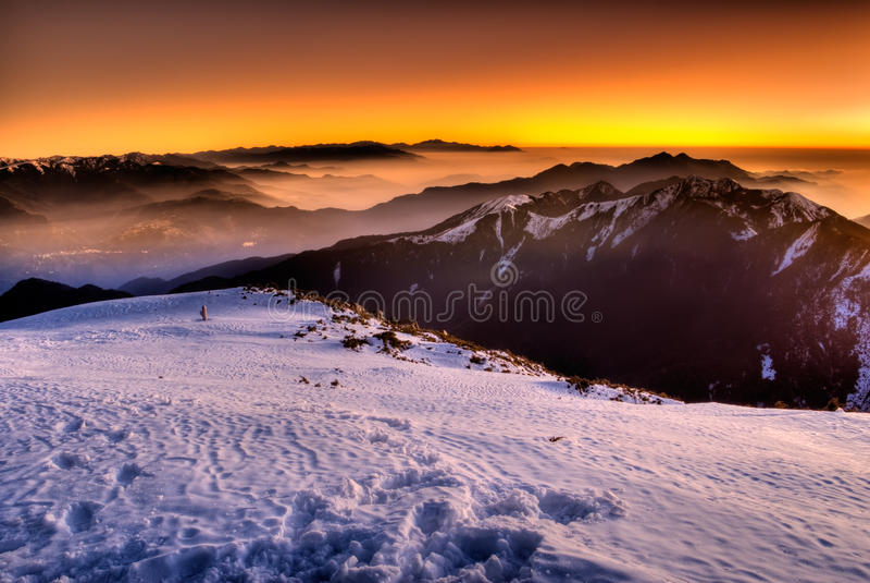 Montaña del color foto de archivo libre de regalías