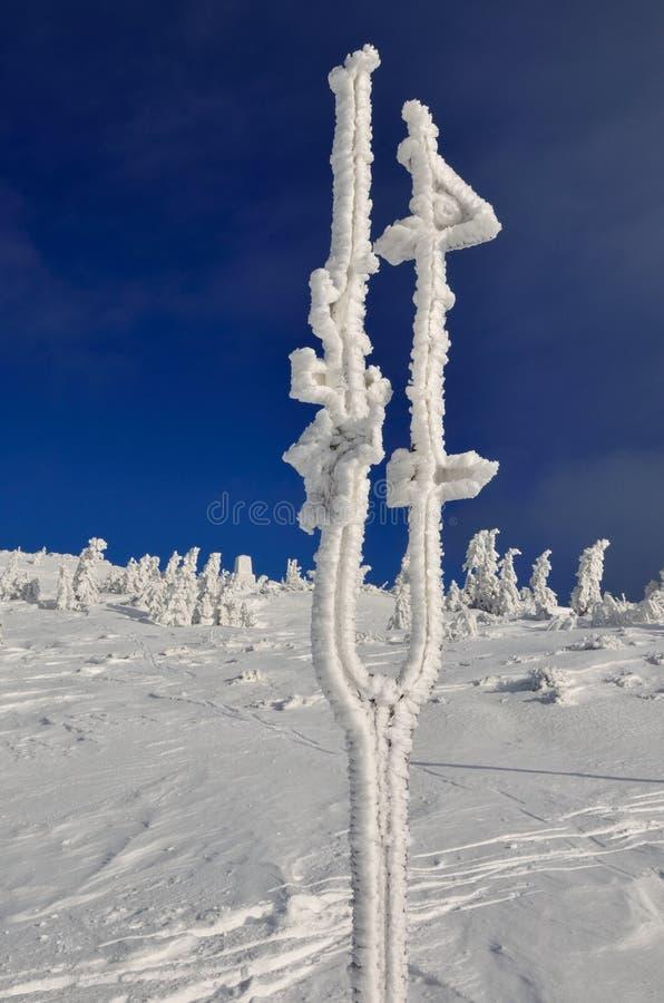 Montaña del gigante de la puesta del sol de la naturaleza de Krkonose fotografía de archivo libre de regalías
