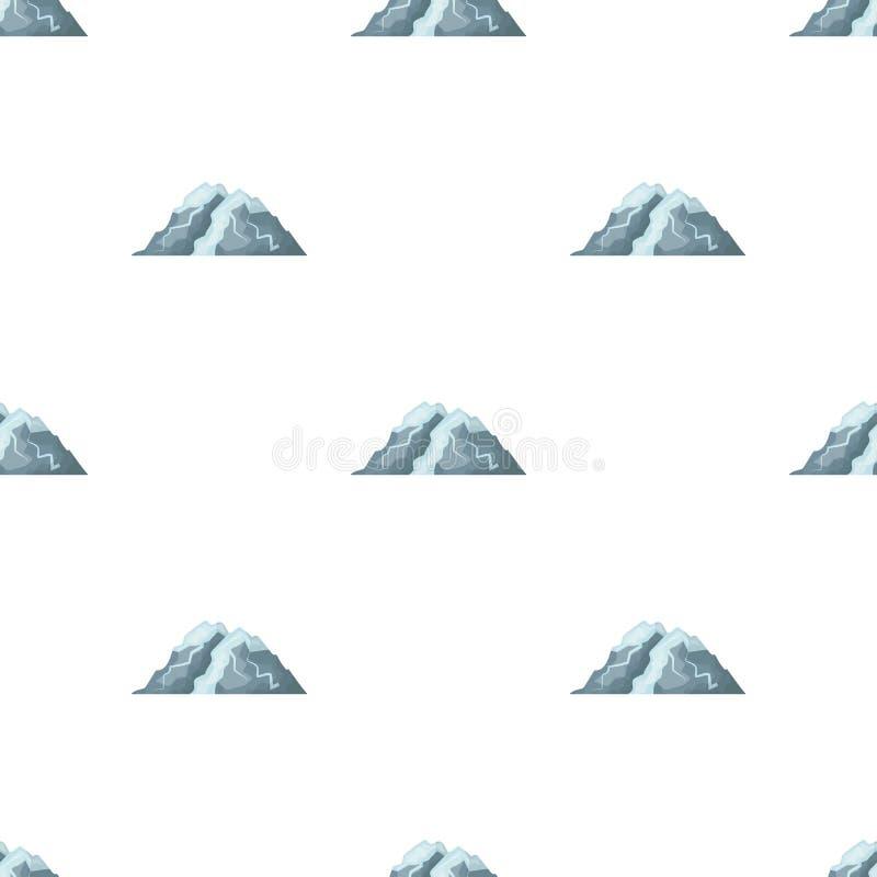 Montaña del hielo todas las grietas La montaña de la cual icebergs Diversas montañas escogen el icono en vector del estilo de la  stock de ilustración