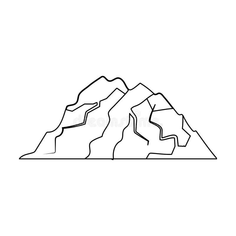 Montaña del hielo todas las grietas La montaña de la cual icebergs Diversas montañas escogen el icono en vector del estilo del es libre illustration