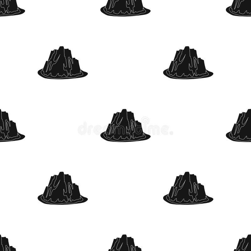 Montaña del hielo todas las grietas La montaña de la cual icebergs Diversas montañas escogen el icono en vector negro del estilo libre illustration
