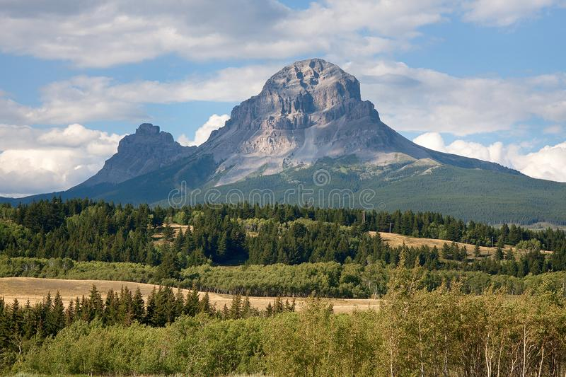 Montaña del paso de Crowsnest en verano foto de archivo