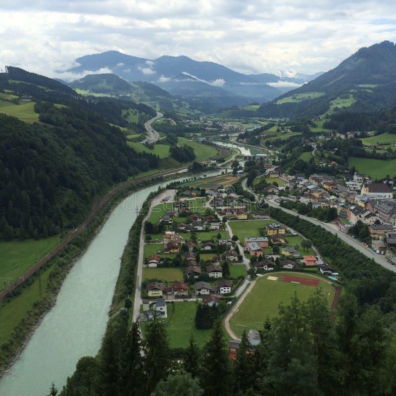 Montaña en Austria fotografía de archivo