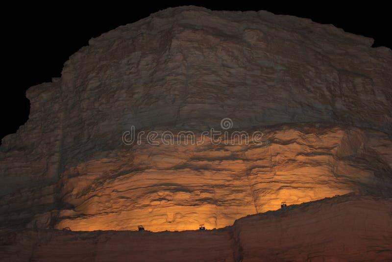 Montaña en el desierto de Judean cerca del mar muerto fotografía de archivo libre de regalías