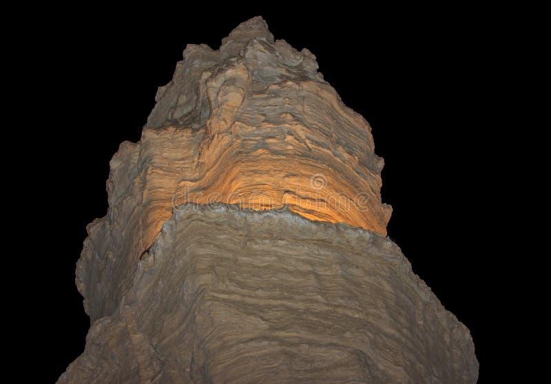 Montaña en el desierto de Judean cerca del mar muerto foto de archivo