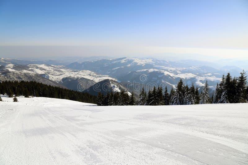 Montaña en invierno, Serbia de Kopaonik foto de archivo