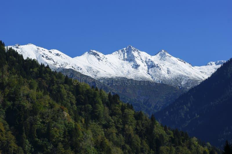 Montaña Kackar Nevado imagen de archivo libre de regalías