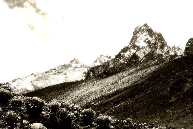 Montaña Kenia imagen de archivo libre de regalías