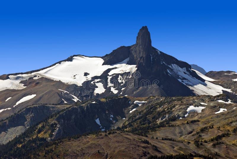 Montaña negra del colmillo en Columbia Británica fotografía de archivo libre de regalías