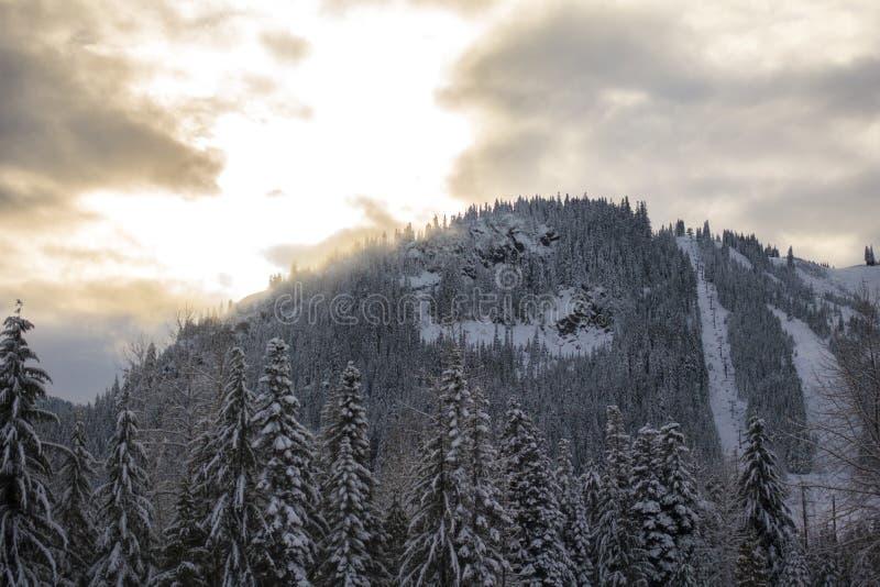 Montaña nevada de Snoqualmie fotografía de archivo