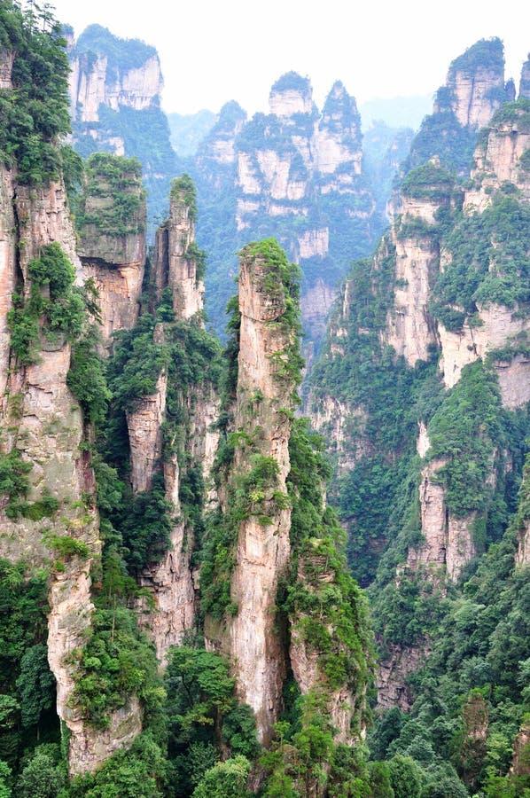 Montaña ofrecida en China, Zhangjiajie imagen de archivo