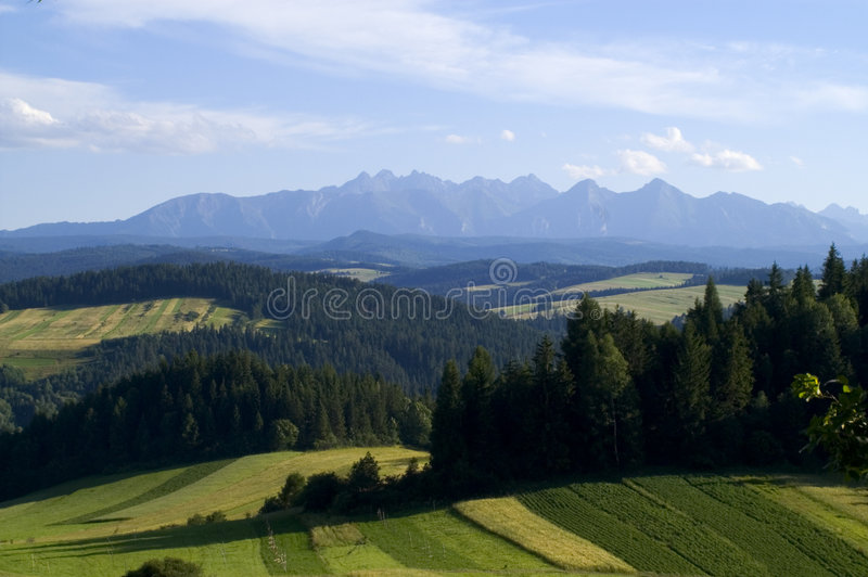Montaña panorámica de Tatra fotos de archivo libres de regalías