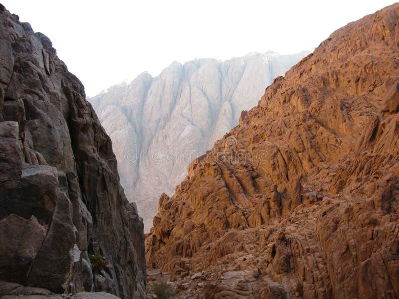 Montaña que sube Moses Egypt imagenes de archivo