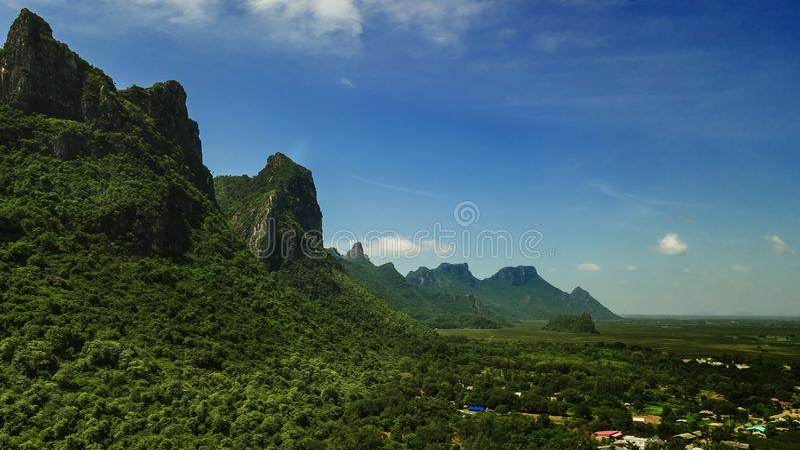 Montaña Sam Roi Yot, Tailandia fotos de archivo libres de regalías