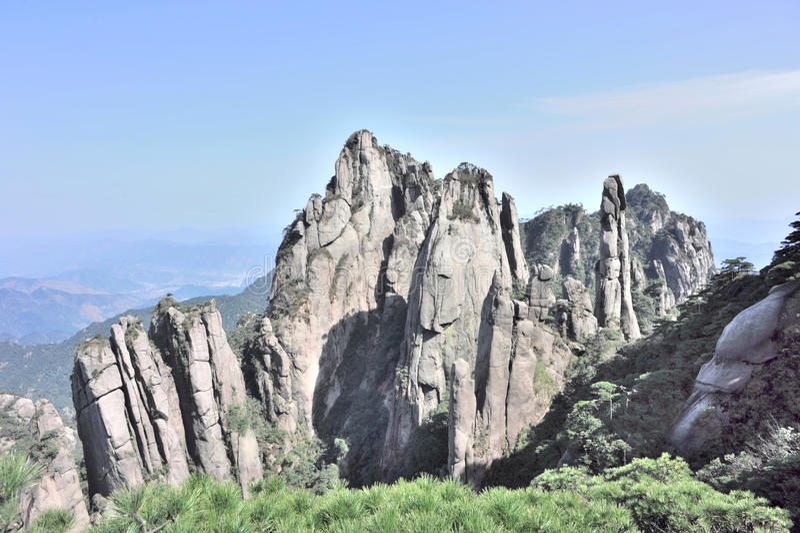 Montaña sanqingshan foto de archivo