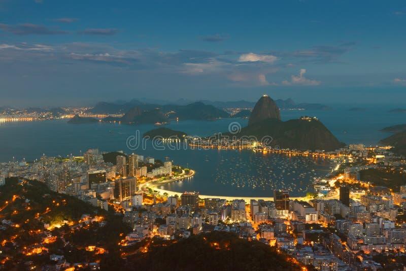 Montaña Sugarloaf, Rio de Janeiro, el Brasil fotos de archivo
