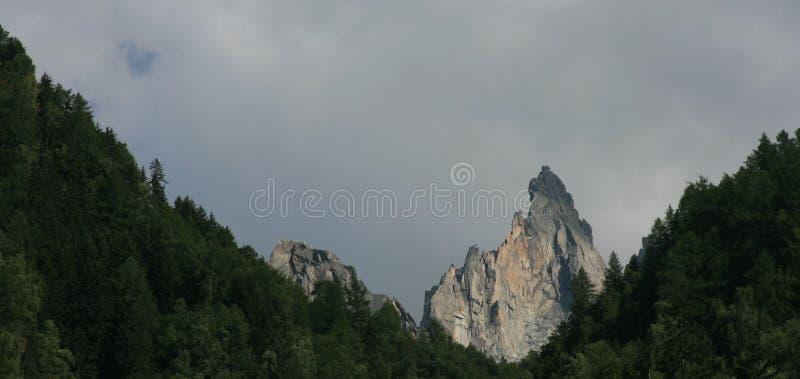 Montaña superior en árboles foto de archivo libre de regalías