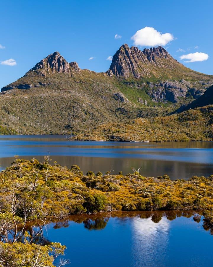 Montaña Tasmania de la cuna imágenes de archivo libres de regalías
