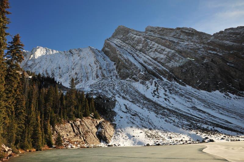 Download Montaña y lago de la nieve imagen de archivo. Imagen de hermoso - 7282355