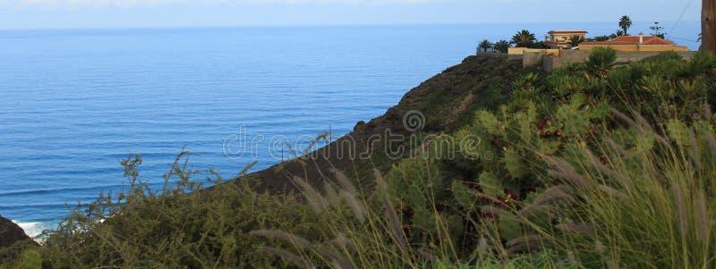 Montaña y océano. Mountain and ocean. stock photo