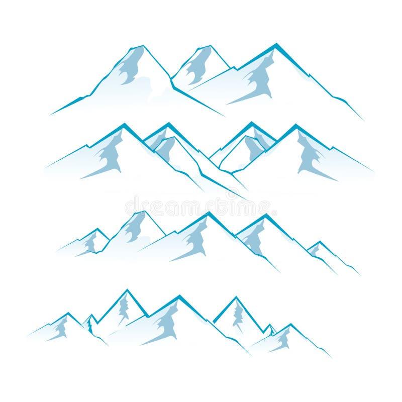 Montañas stock de ilustración