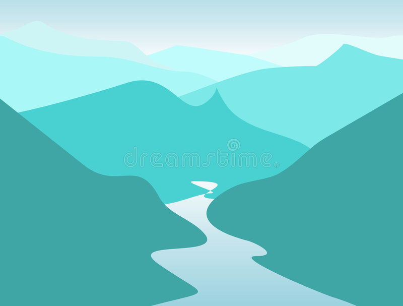 Montañas ilustración del vector