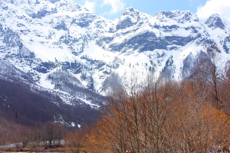 Montañas albanesas imagen de archivo libre de regalías