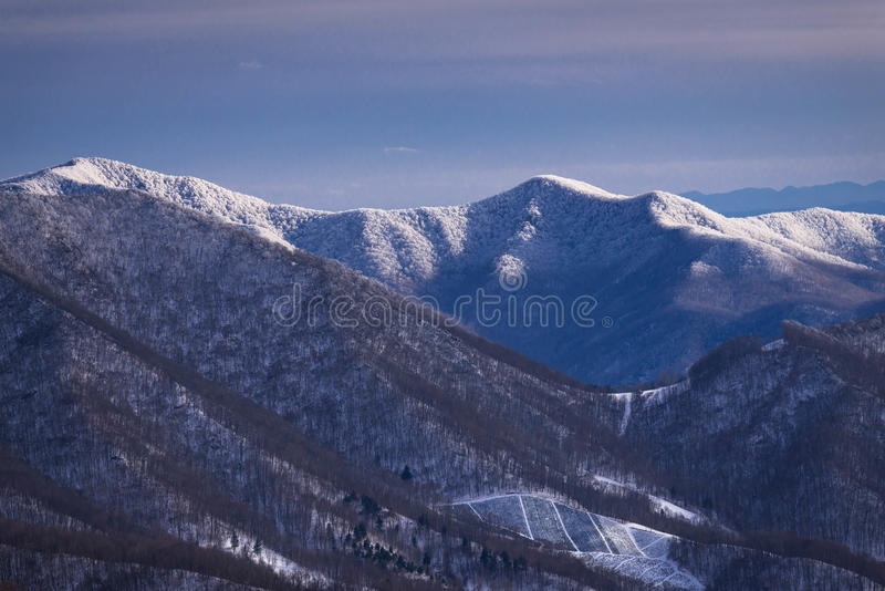 Montañas apalaches en el invierno 3 fotografía de archivo