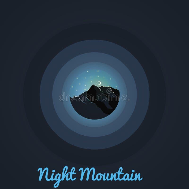 Montañas asombrosas de la noche debajo de las estrellas foto de archivo libre de regalías