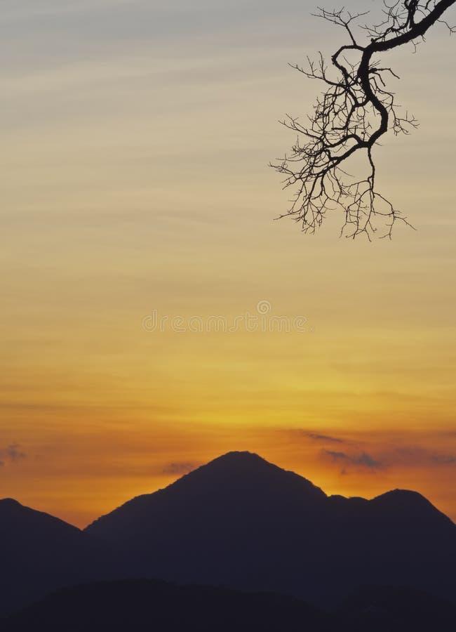 Montañas cerca de Petropolis, el Brasil foto de archivo libre de regalías