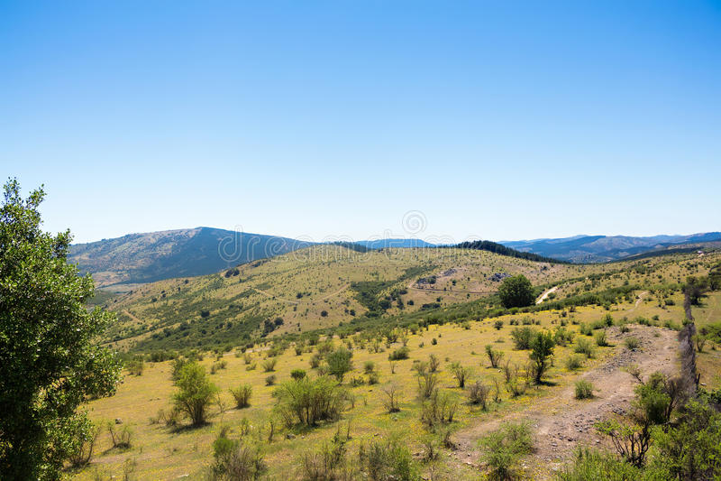 Montañas cerca de Talca foto de archivo libre de regalías