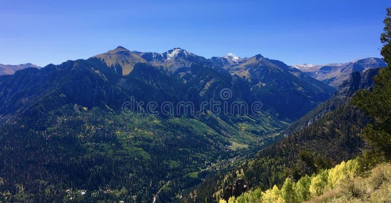 Montañas Colorado de Ouray imagenes de archivo