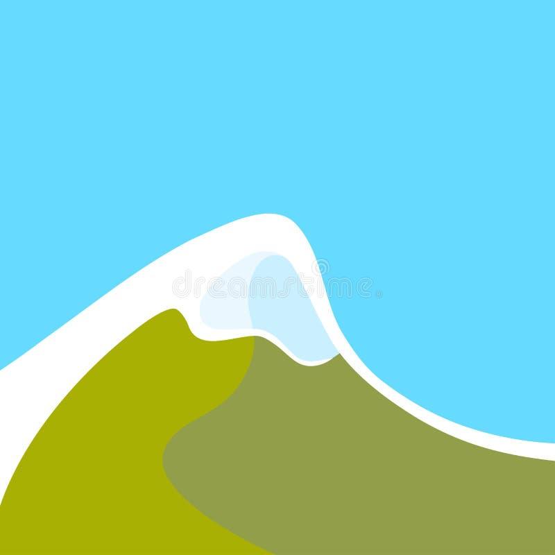 Montañas con el pico nevoso ilustración del vector