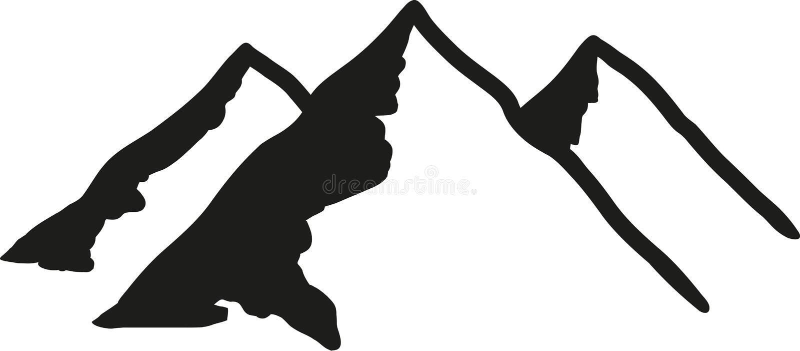 Montañas con tres picos libre illustration