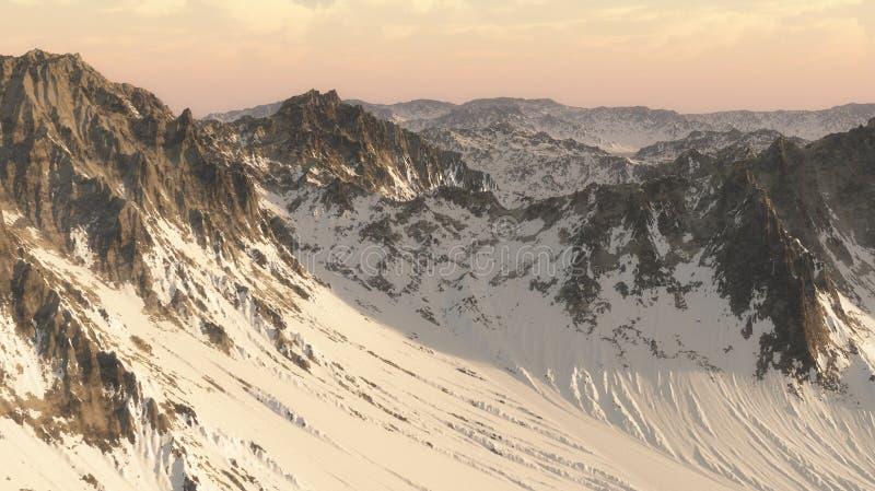 montañas 3D foto de archivo