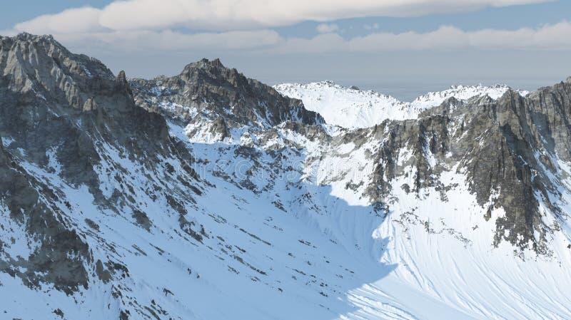 montañas 3D fotos de archivo
