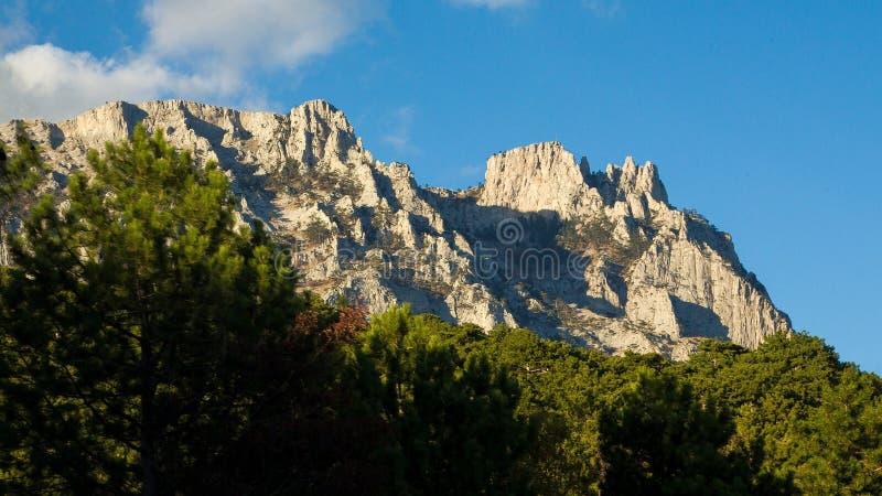 Montañas de Ai-Petri, Crimea, Yalta foto de archivo