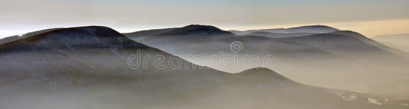 Montañas de Beskydy fotografía de archivo libre de regalías