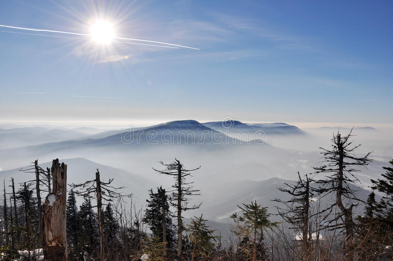 Montañas de Beskydy imagenes de archivo