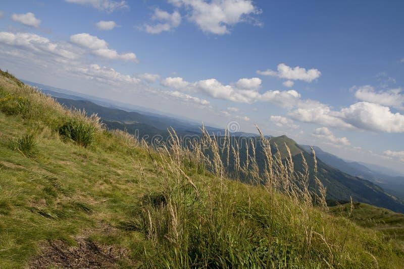Montañas de Bieszczady fotografía de archivo libre de regalías