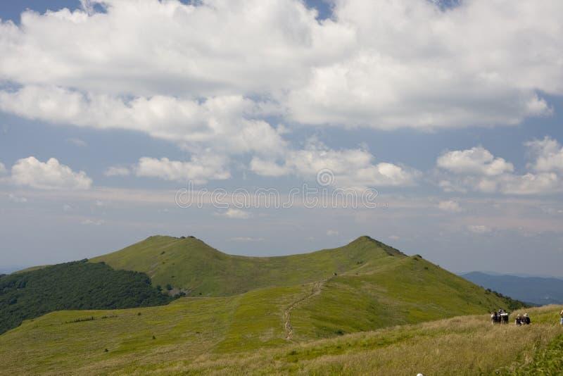 Montañas de Bieszczady imagen de archivo libre de regalías