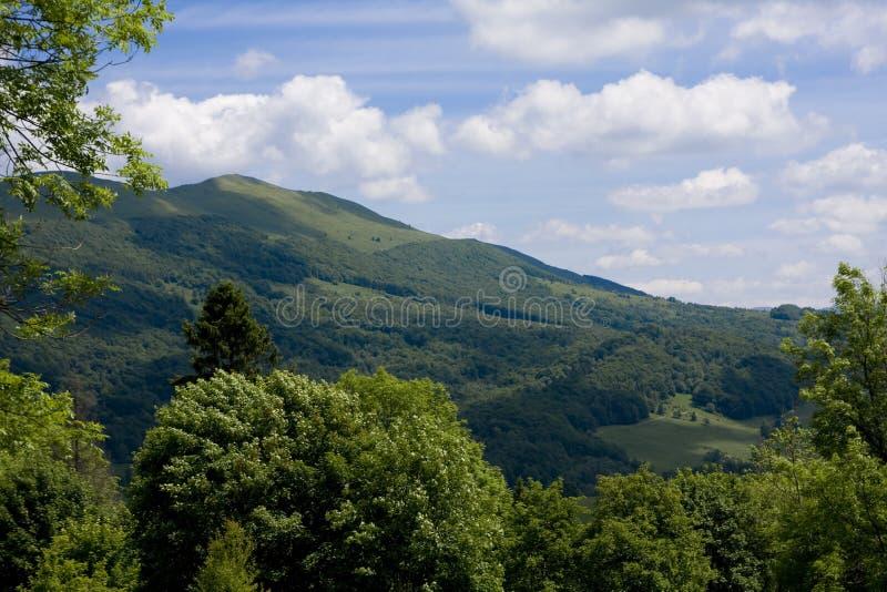 Montañas de Bieszczady fotografía de archivo
