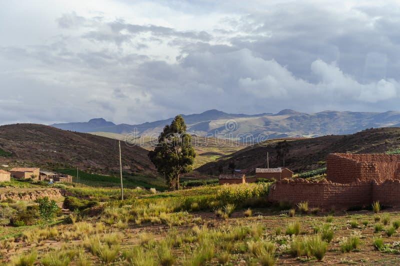 Montañas de Bolivia, altiplano foto de archivo libre de regalías