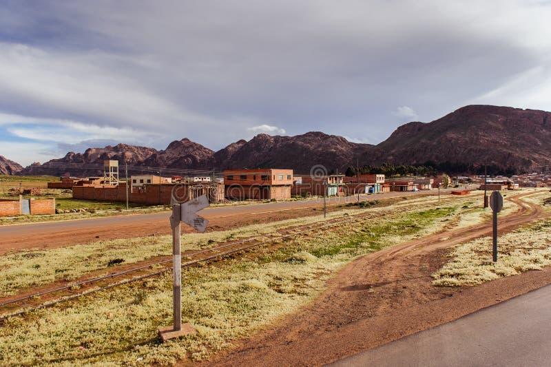 Montañas de Bolivia, altiplano imagen de archivo