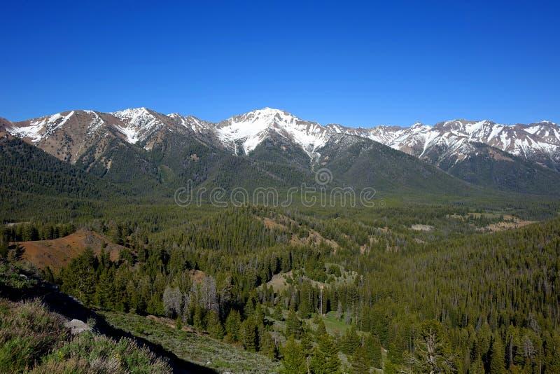 Montañas de Boulder - Idaho imágenes de archivo libres de regalías
