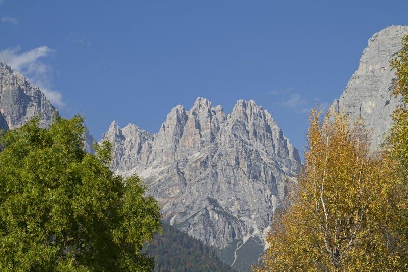 Montañas de Brenta vistas del este foto de archivo libre de regalías
