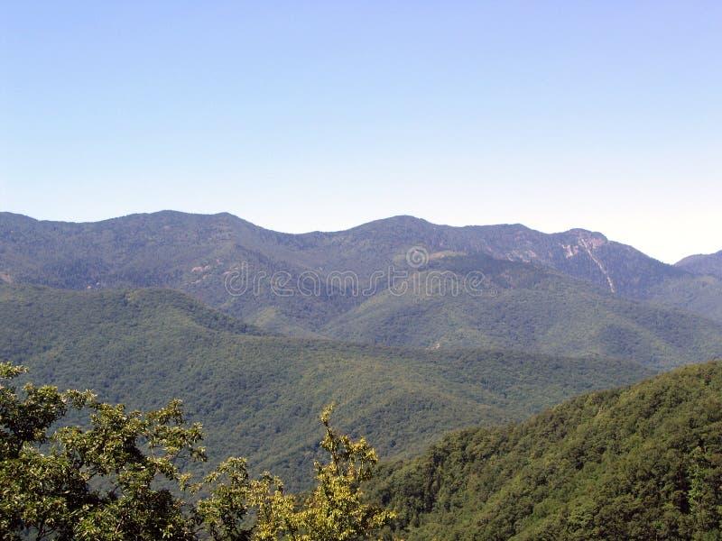 Montañas de canto azul foto de archivo libre de regalías