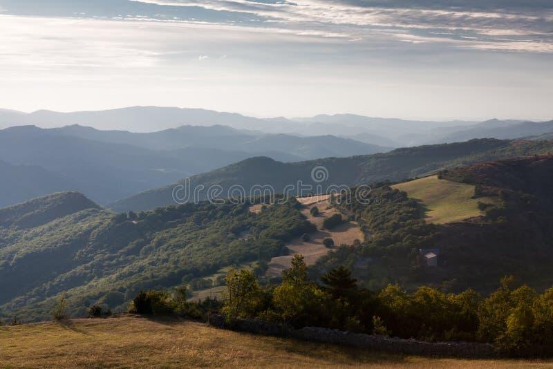Montañas de Cevennes imagen de archivo