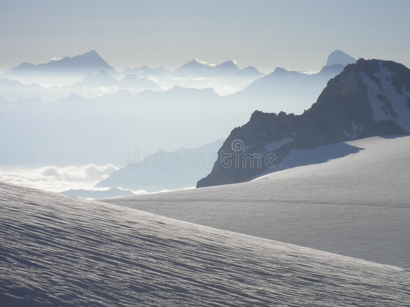 Montañas de Chamonix imagen de archivo