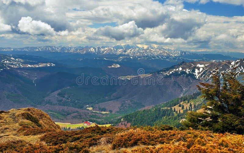 Montañas de Ciucas en Rumania fotos de archivo